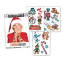 Boys Christmas assortment 15 tattoos