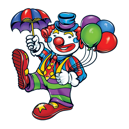 Clown with balloons 3