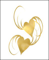 Gold Hearts-Metallic/foil Gold S