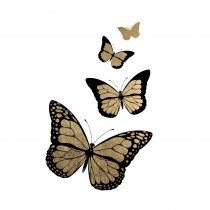 Black and Gold Butterflies - Metallic