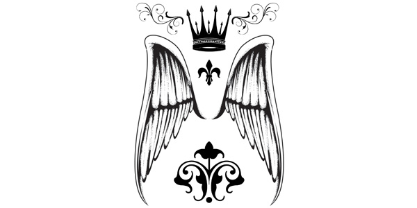 Crown and Angel Wings