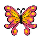 Pink Spotted Butterfly