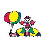 Clown with Balloons 2