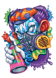 Krazy Klownz: Galling Gas Mask Klown