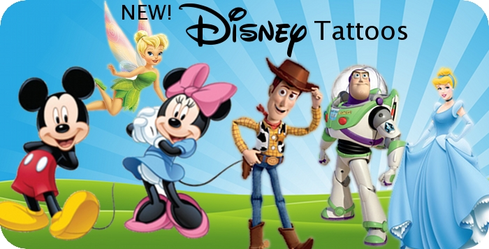 Disney Temporary Tattoos