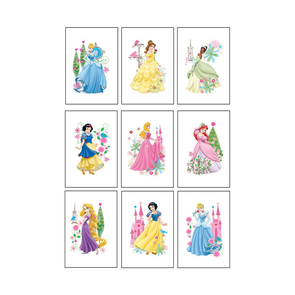 Disney Princess assortment pack of 9 tattoos