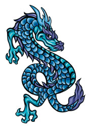 Blue and Purple Dragon