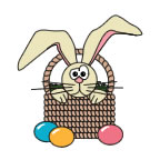 Easter Bunny in a Basket 1