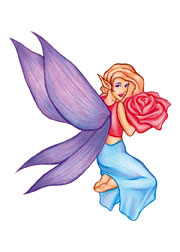 Fairy with a Red Rose 2