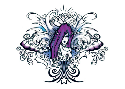 Wicked Midnight Fairy Temporary Tattoo