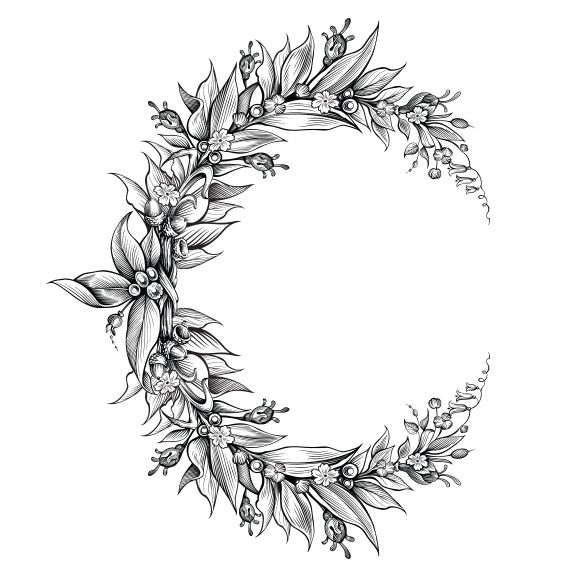 Flower Crescent Moon