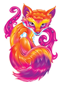 Colourful Fox (Glitter)