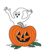Ghost and Pumpkin (Glow In The Dark)