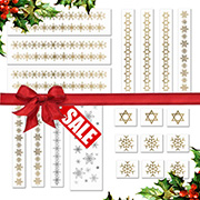 Gold and Silver Christmas pack of 20