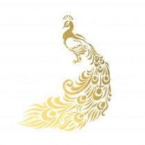 Gold Foil Peacock
