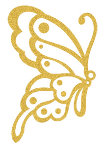 Gold Sugar Butterfly (Glitter)
