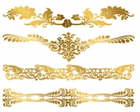 Golden Adornments Metallic