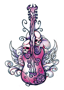 Wicked Midnight Rocker Temporary Tattoo