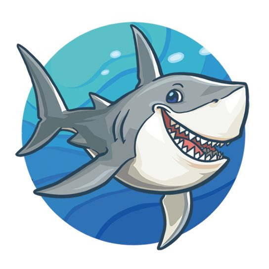 Happy Cartoon Shark