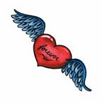 Forever Heart with Wings
