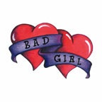 Bad Girl Hearts (Glitter)