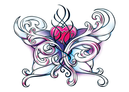 Wicked Midnight Heart Temporary Tattoo