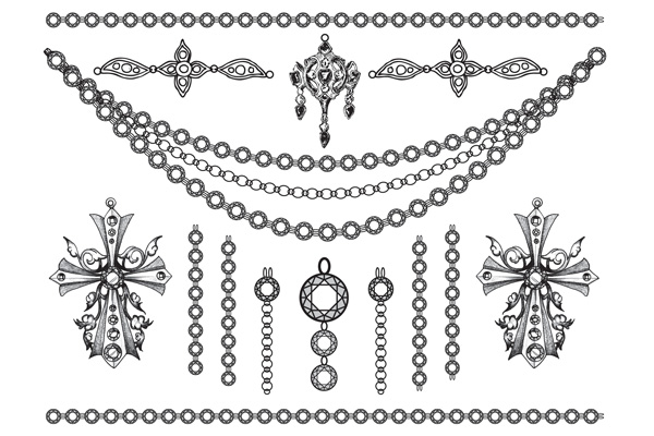Jewellery - Gems Crosses and Chains