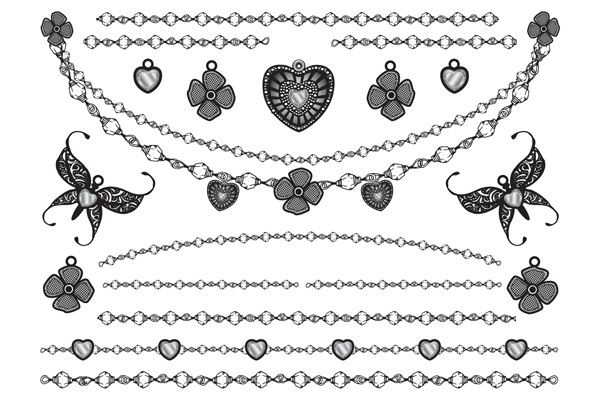 Jewellery - Hearts Flowers Butterflies and Chains