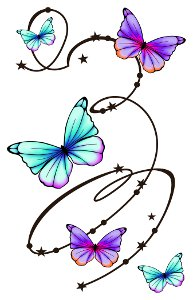 Large Butterfly Temporary Tattoo