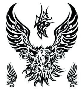 Large Tribal Eagle Temporary Tattoo