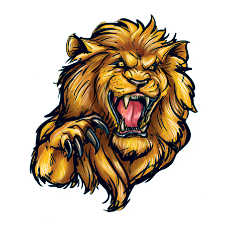 Lion Roaring Temporary Tattoo 30 Lio 00202