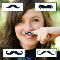 Mustache Finger Tattoo pack of 20