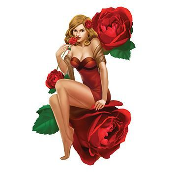 Red Pin Up Girl