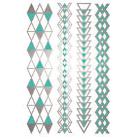 Silver and Turquoise foil/metallic bracelets