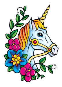 Unicorn with flowers