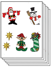 Christmas pack of approximately 50 tattoos